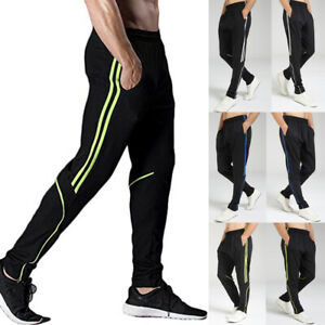 Men Pockets SweatPants Sports Gym Pants Athletic Running Workout Fitness Trouser