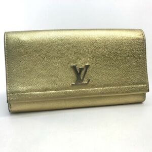 LOUIS VUITTON M62077 Portefeuille Lock Me II Long Wallet Calf Leather Gold