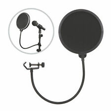 Mic Windscreen Pop Filter Mask Shield Dual Layer Studio Record Microphone
