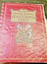 Rare Album 1937 British Coronation King George VI Complete Set 202 Stamps