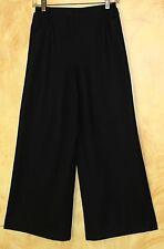 New Eskandar BLACK Cashmere Wool Flannel Wide Leg Flowing Trouser Pants Sz 0