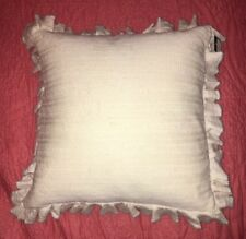 Ralph Lauren English Isles Knit Lace Throw Pillow 16X16, Cream