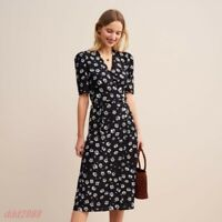 vintage floral print new design womens french style long dress skirt hot sale w3