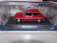 miniature 1/43  SOLIDO             SIMCA 1100 GLS DE 69 voiture de collection