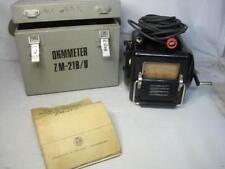 9175 Winslow-Teletronic Ohmmeter ZM-21B/U Untested FREE Shipping Conti USA
