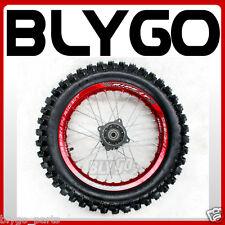 "RED 90/100- 14"" Inch Rear Back Wheel Rim + Knobby Tyre Tire PIT PRO Dirt Bike"