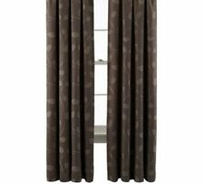 "*MarthaWindow Hampton Leaf Grommet-Top Curtain Panel 50""W x 95""LTaupe Brown NEW"