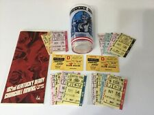 1976 Kentucky Derby Julep Glass With Program And Clubhouse Tickets Betting Ticks