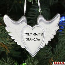 New Angel Wings With Heart Personalized Christmas Tree Ornament by Kurt Adler
