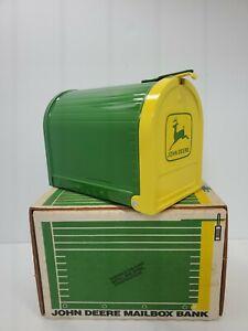 John Deere Mailbox Bank NIB Vintage W Padlock And Key