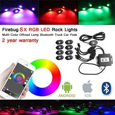 8Pcs Bluetooth LED Boat Interior Marine Deck Light RGB Accent Pod Kit Waterproof