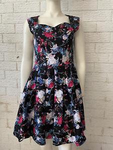 CAROLINE MORGAN Fit & Flare Floral Sz 12 Ladies Dress