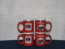 INTERNATIONAL FARMALL IH TRACTOR COFFEE CUPS NEW (SET OF 4 pc ) -- RED