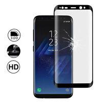 """Film Protection Écran Verre Trempé Bord Incurvé NOIR Samsung Galaxy S8 5.8"""""""