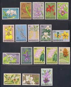Barbados   1974   Sc # 396-411   Orchids   MNH   (54119)