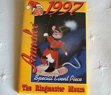 "1997 ANNALEE ""The Ringmaster Mouse"" Special Event Promotional Pin Back Button"
