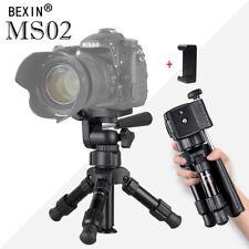 MS02 Mini Tripod Monopod Travel Ball Head For SLR DSLR Camera w/Phone Clip Kit