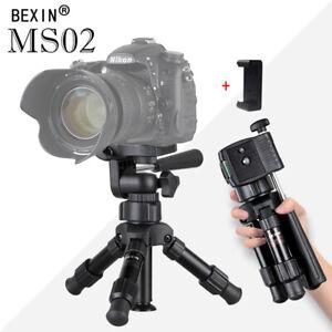 MS02 Mini Portable Table Top tripod Aluminum Ball head for DSLR Camera Phone