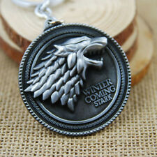 1* Game of Thrones House Stark Car Key Chain Keychain Keyring New Silver Keyfob