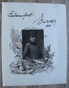 Blatt 1917 Kriegsminister Enver Pascha Türkei WWI Monarchie Adel 22x27cm 1.WK