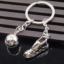 New 3D Cute Metal Ring Key Chain Keyfob Cool Soccer Shoe Lovely Keyrings M7CA