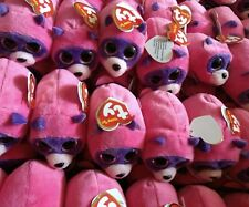 1285 pcs lot Ty Teeny Tys Rugger Raccoon 2016 Mini Plush