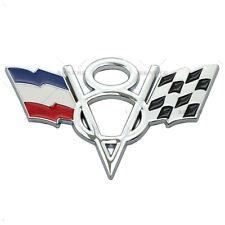 For Peugeot Renault V8 France FR Grille Grill Emblem Chrome Metal Front Badge
