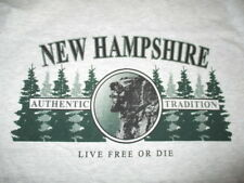 """OLD MAN OF THE MOUNTAIN - NEW HAMPSHIRE """"Live Free or Die"""" (SM) T-Shirt w/ Tags"""