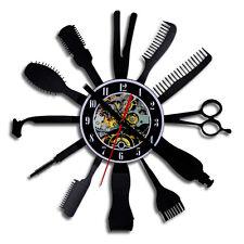 Barber Hair Salon Vinyl Record Wall Clock Creative Handmade Gift Ideas Art Decor