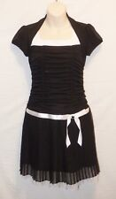 SZ 16 AMy Byer Girls Black White Dress Wedding Flower Christmas Thanksgiving