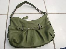 "Kenneth Cole  Leather shouder bag Handbag Purse Sage green 12"" EUC"