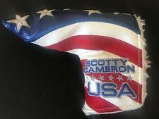 2011 Scotty Cameron Usa Us Open Putter Flag Headcover Rare