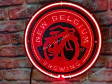 Belgium Brewing Fat Tire Amber Ale 3D Acrylic Beer Bar Pub Real Neon Sign light