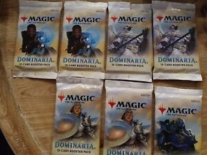 NEW Dominaria Booster Pack x 7 - Magic the Gathering MtG - Sealed 7 Pack Lot!