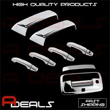 FOR CHEVY SILVERADO 2014-2017 CHROME MIRROR, DOOR HANDLE AND TAILGATE COVER