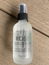 Provence Beauty Natural Vegan Rose Coconut Face Mist with Hyaluronic Acid 4 oz