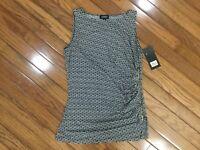 NWT Jones New York Women's Sleeveless Top Blouse Side Zipper Sz S  MSRP $49