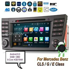 """Android 8.0 DAB+Mercedes Car DVD CLS G E Class W219 W463 W211 Stereo 7""""7880G OBD"""