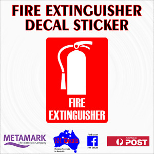 70mm FIRE EXTINGUISHER work car,ute,truck,boat,office,safety sign decal sticker