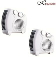 2 X 2000W - 2Kw PORTABLE SILENT ELECTRIC FAN HEATER HOT UPRIGHT NEW HEATERS A11