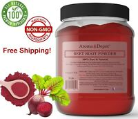 2lb / 32 oz  JAR Beet Root Powder (Beta vulgaris) Raw & Non-GMO Vegan