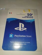 Carte PlayStation Store - Valeur : 50 Euros - Neuf