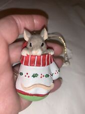 """Charming Tails """"Mackenzie In Mitten"""" Mouse Christmas Ornament"""