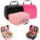 Large Beauty Make Up Nail Tech Cosmetic Box Jewellery Vanity Case Storage Bag#