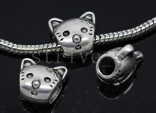 6/20/100pcs Tibetan Silver Bulk Lots big Animal Beads  European Charms Beads DIY