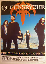 QUEEENSRYCHE CONCERT TOUR POSTER 1995 PROMISED LAND  AUTOGRAPH BY GEOFF TATE