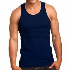 Mens Premium A-Shirts 100% Cotton Tank Top Undershirts Wife Beaters Ribbed S~5XL