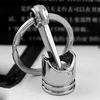 CREATIVA da uomo Mini argento PISTONE metallo portachiavi chiave anelli regali