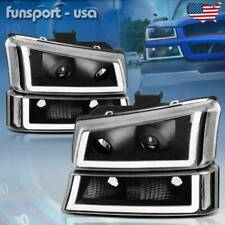 For 2003 2006 Chevy Silverado Blackclear Projector Headlightlamp With Led Drl Us Fits More Than One Vehicle