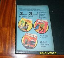 Advertising Italian Pubblicità Werbung: MONDADORI DYNO STRIPPY NIC COMETA *1968*